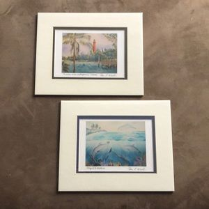 Two 8 x 10 Pam E. Webb Water Color Prints